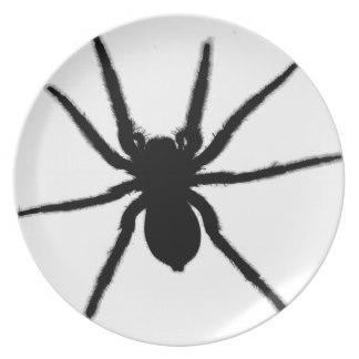 Drawn spider dinner plate #13