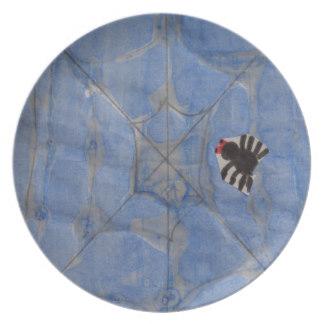 Drawn spider dinner plate #1