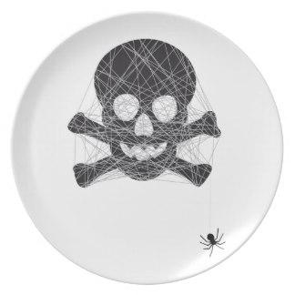 Drawn spider dinner plate #3