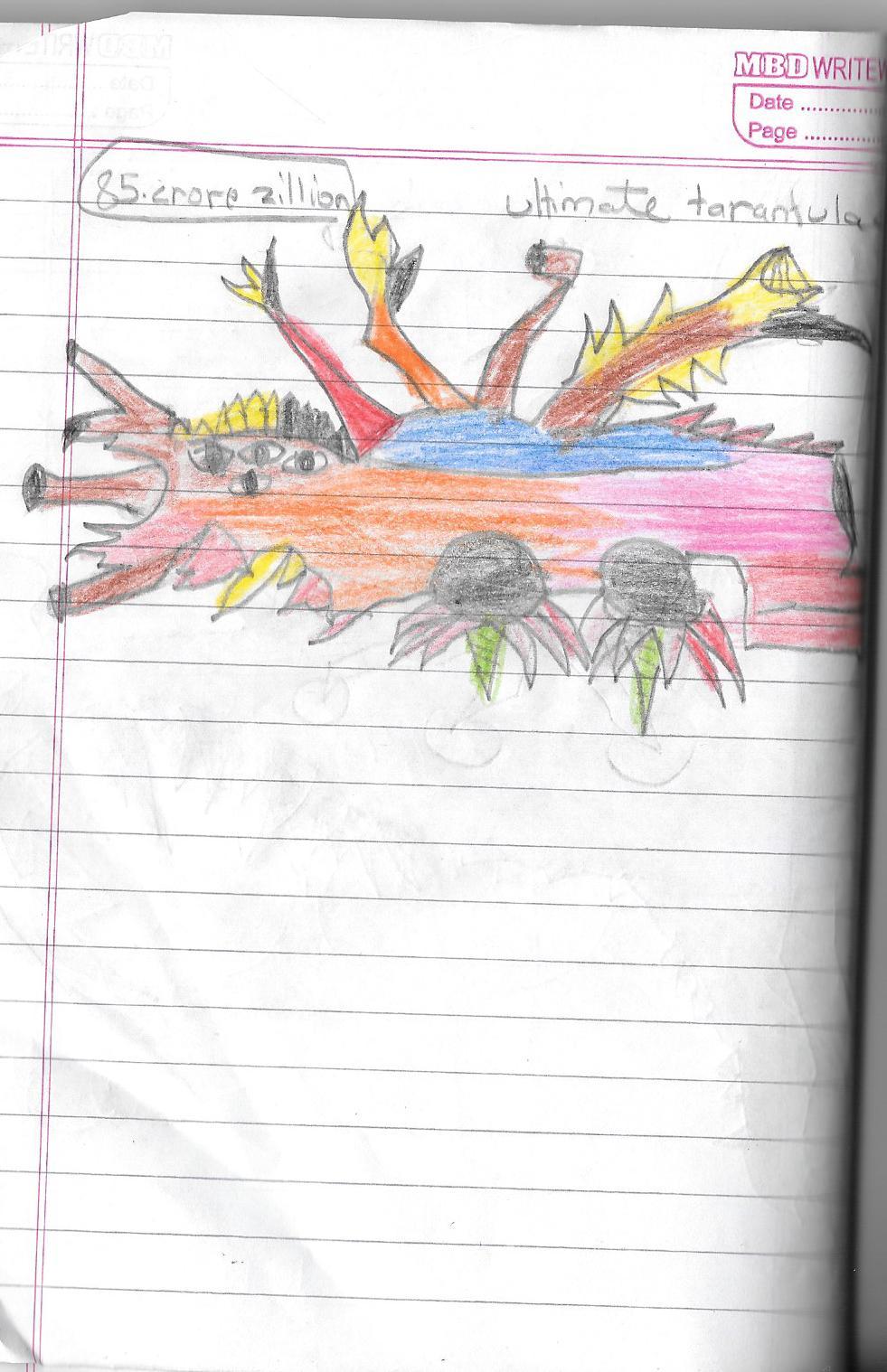 Drawn spider dragon #14