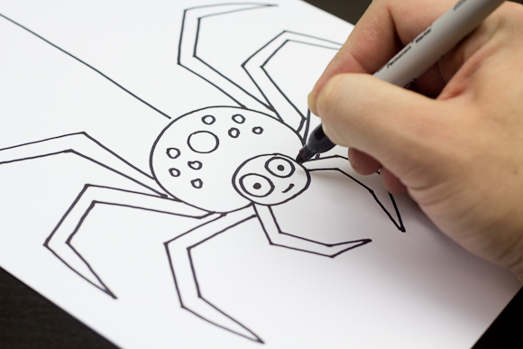 Drawn spider easy  Spider Step4 Version Easy