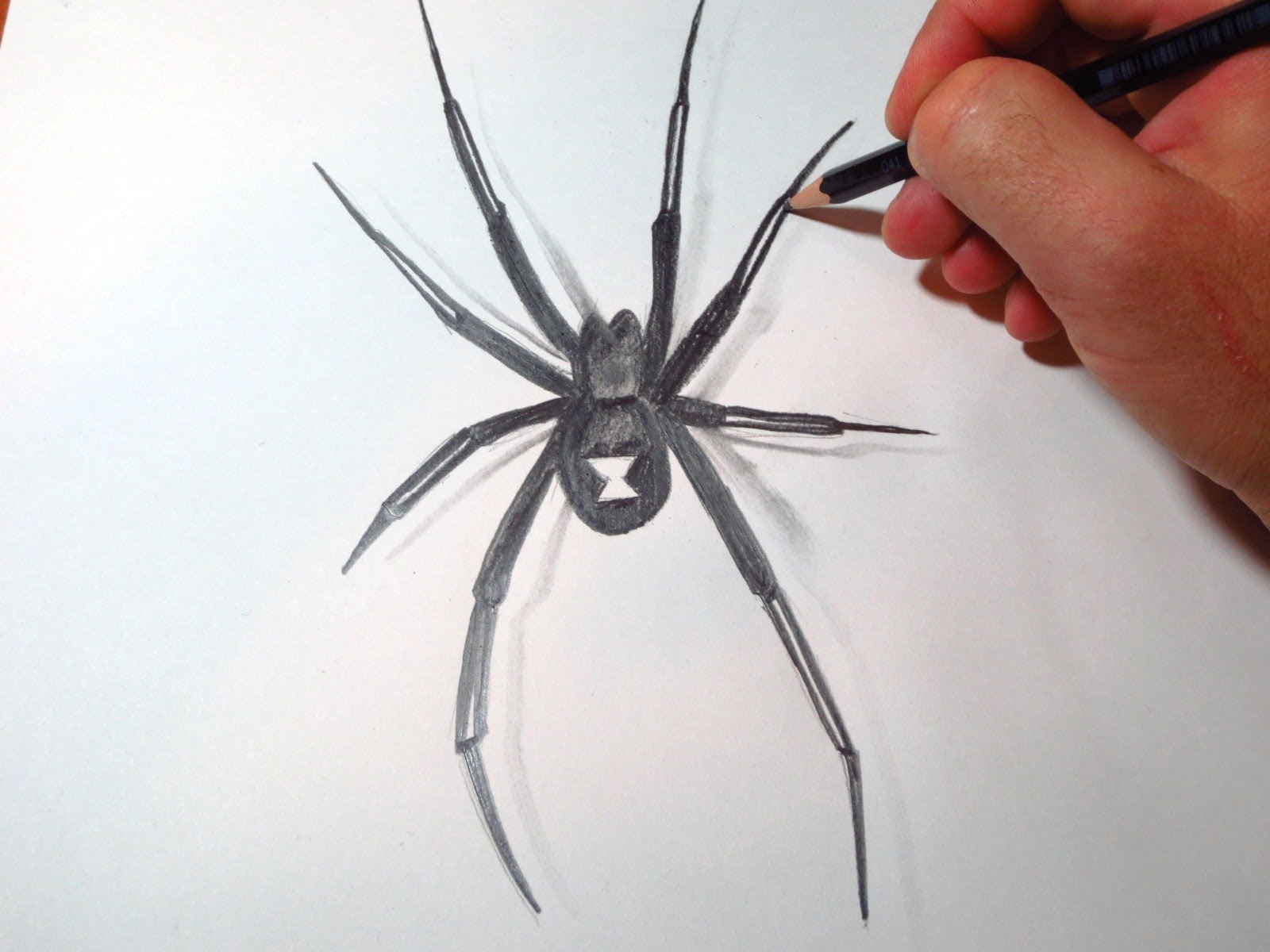 Drawn spider easy How  Widow To Spider