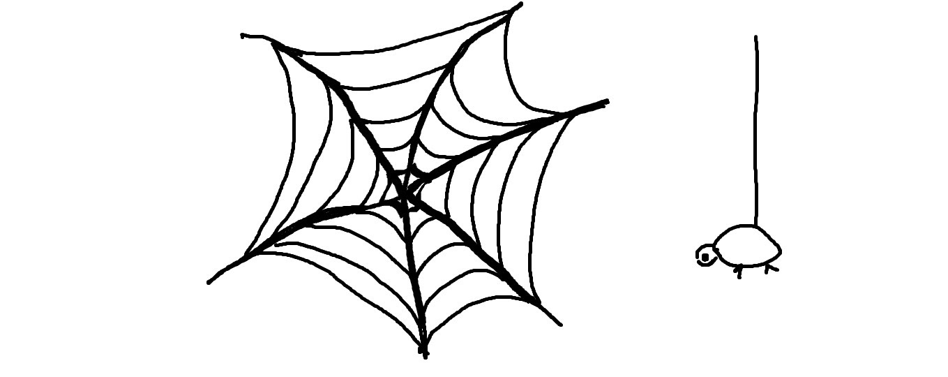 Drawn spider easy Lessons:How Draw Web Easy Spider