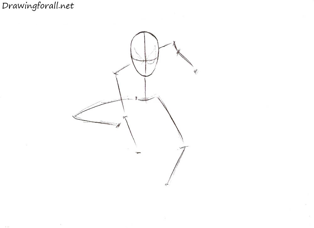 Drawn spider easy draw Man Spider net Drawing Drawing