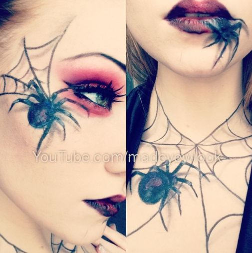 Drawn spider face Easy spiders Makeup! on and