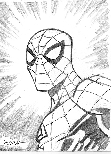 Drawn spider face LostonWallace Sketch by LostonWallace by