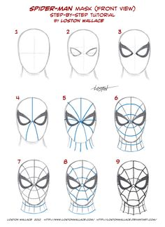 Drawn spider face Search Mask Google Cardboard From