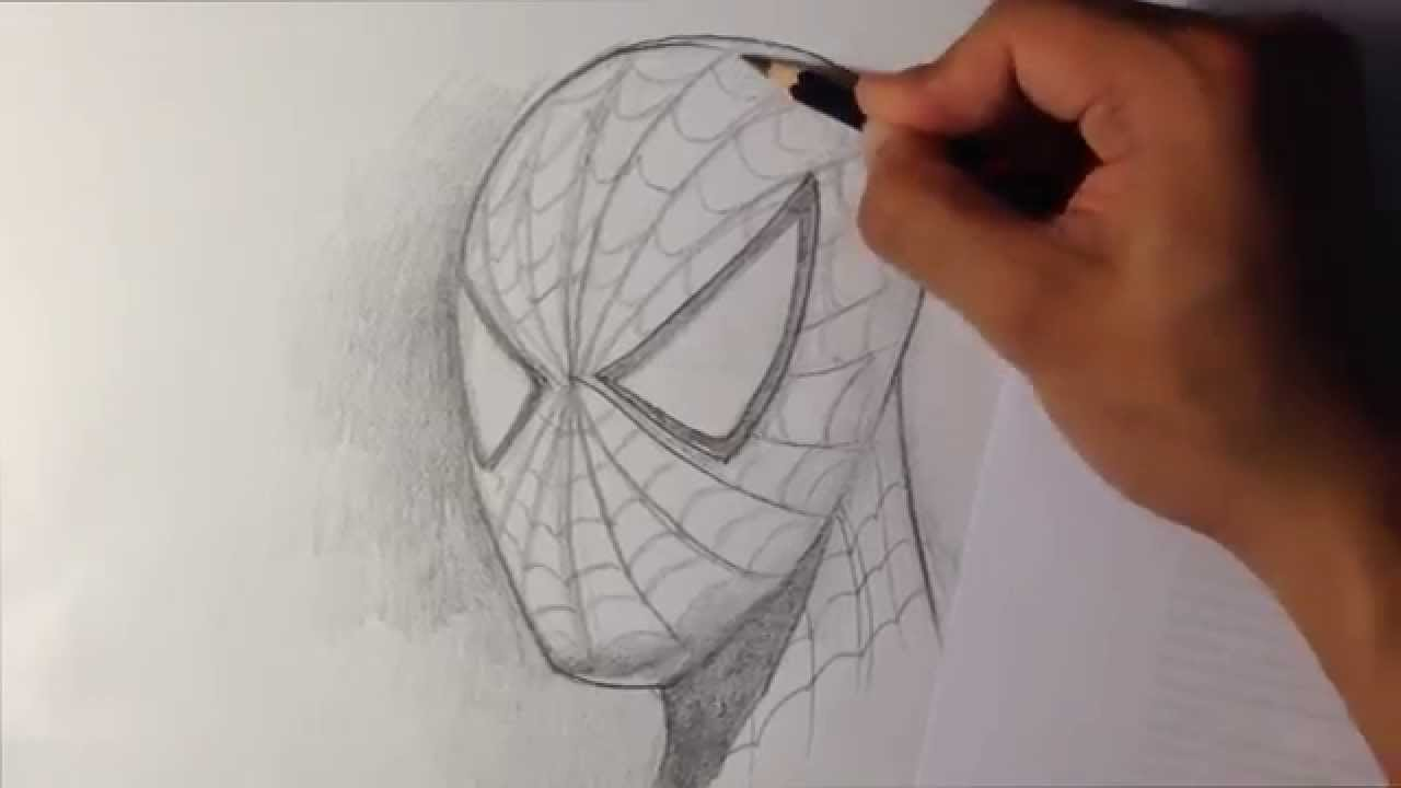 Drawn spider-man pencil drawing Drawings Easy  YouTube to