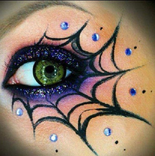 Drawn spider fancy Costume on Eye Complete Best