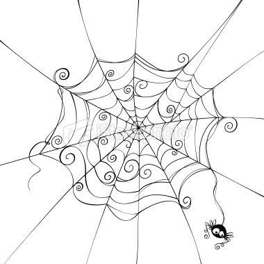 Drawn spider web doodle 25+ Art on doodle Spooky