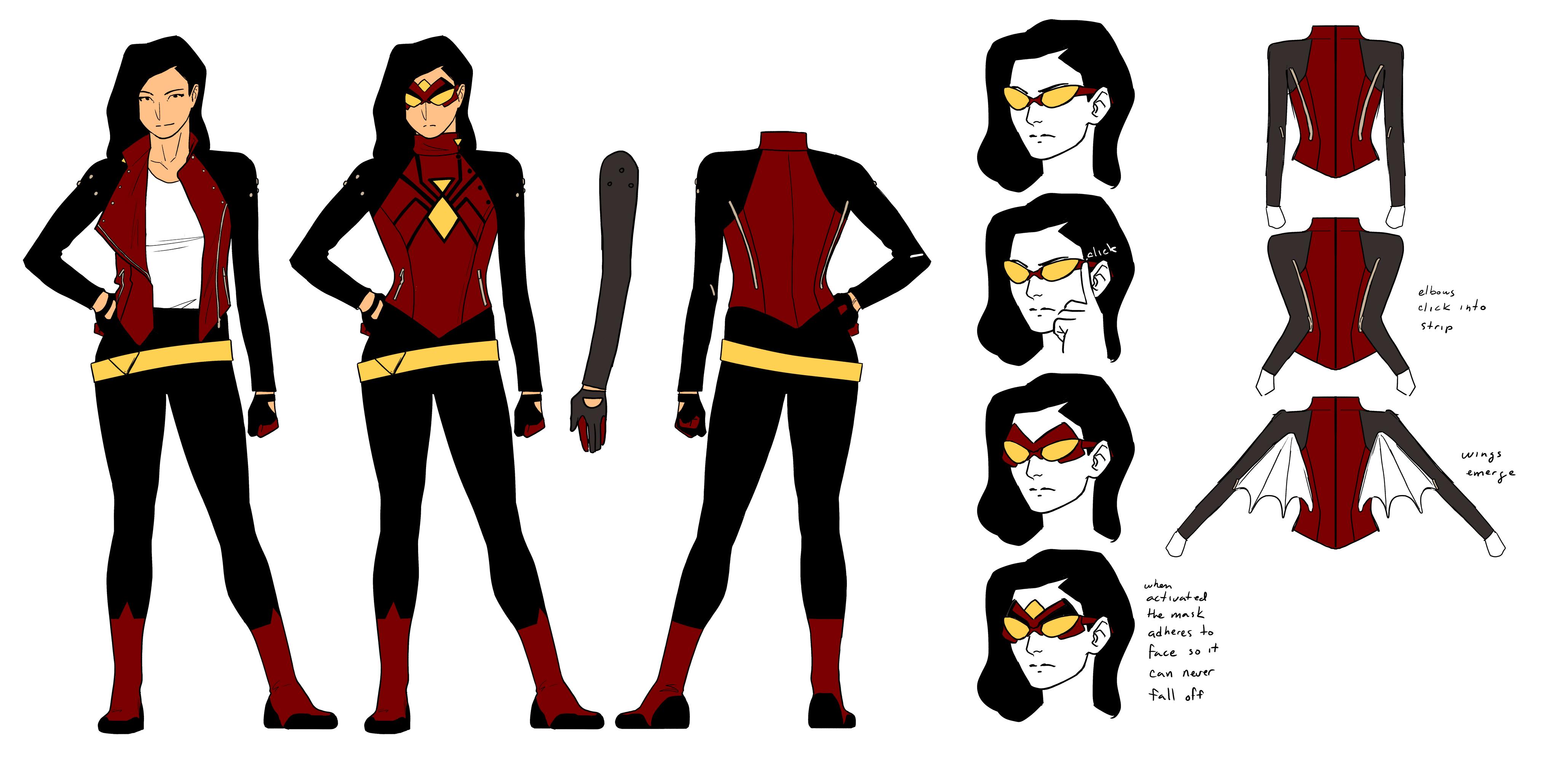 Drawn spider female A New Comic Woman Update