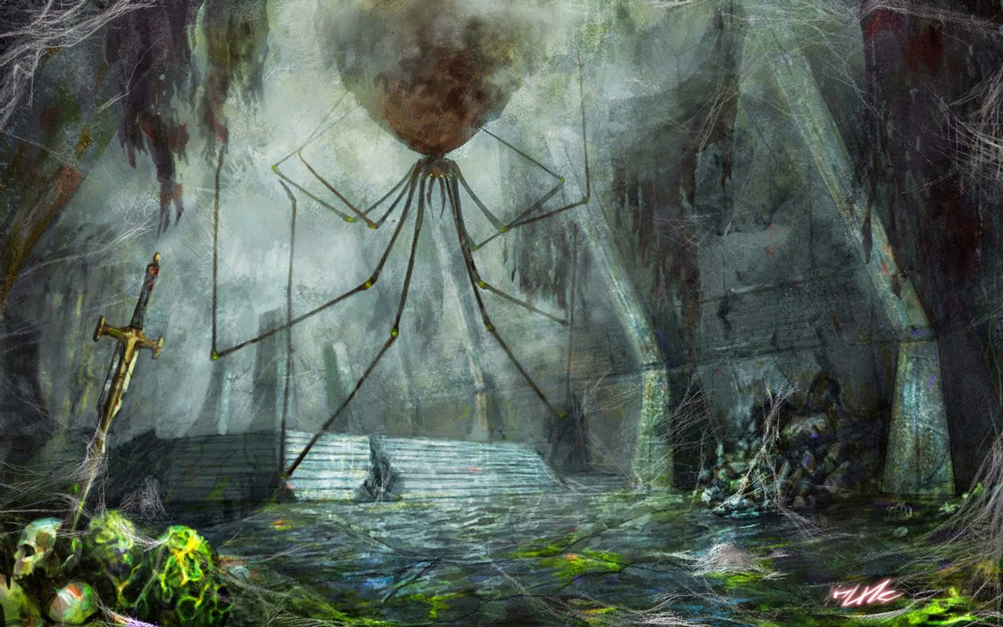 Drawn spider giant spider OF FROM FRANCE A EIGHT