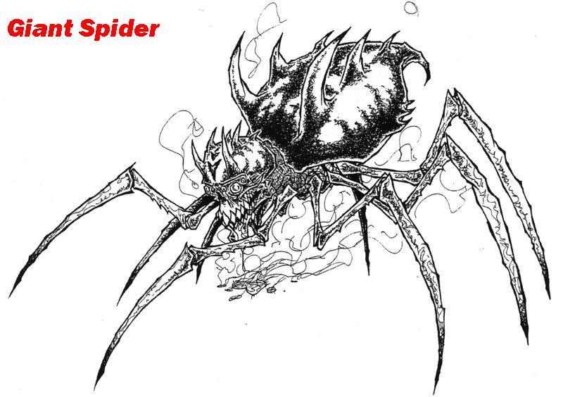 Drawn spider giant spider #15