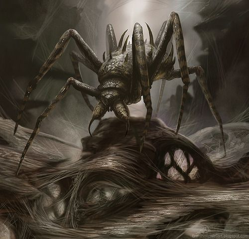 Drawn spider giant spider Ideas Tumblr Fantasy Monsters Giant