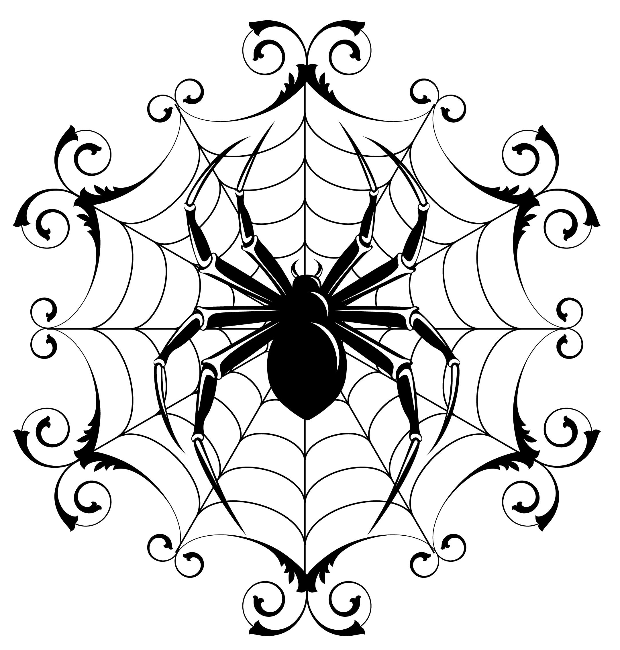 Drawn spider halloween decoration Spider  (14) Halloween Drawing