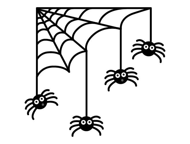 Drawn spider halloween decoration (02) Halloween Halloween Spider Drawing