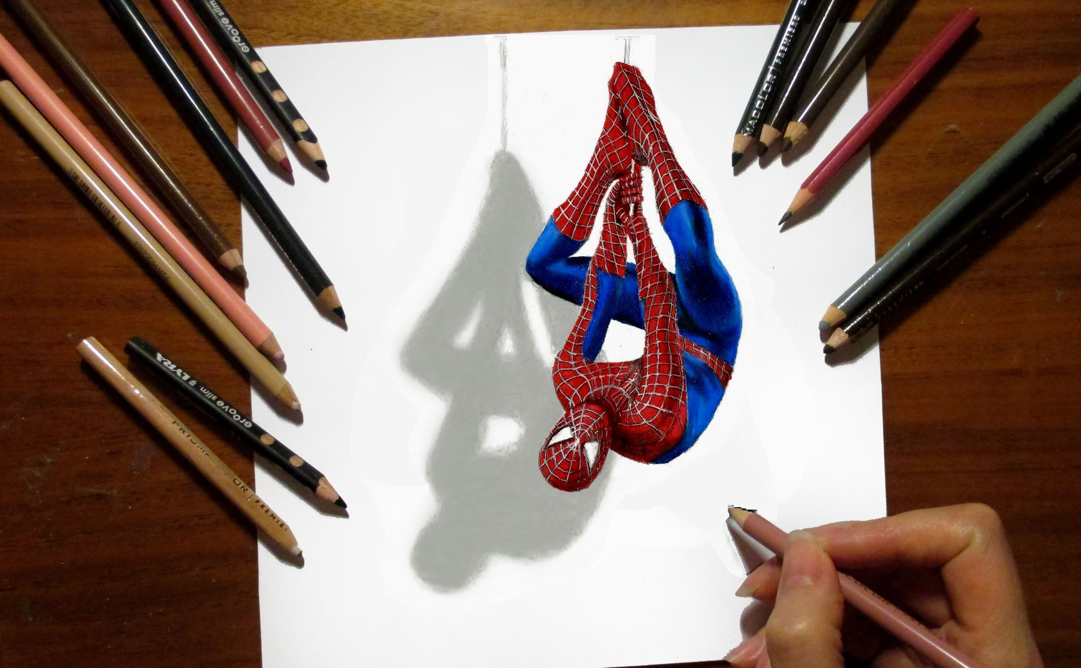 Drawn spider illustration Of Spider 3D Amazing Man