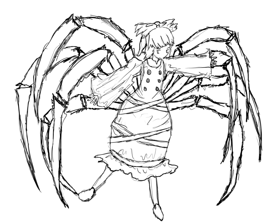 Drawn spider insect #11