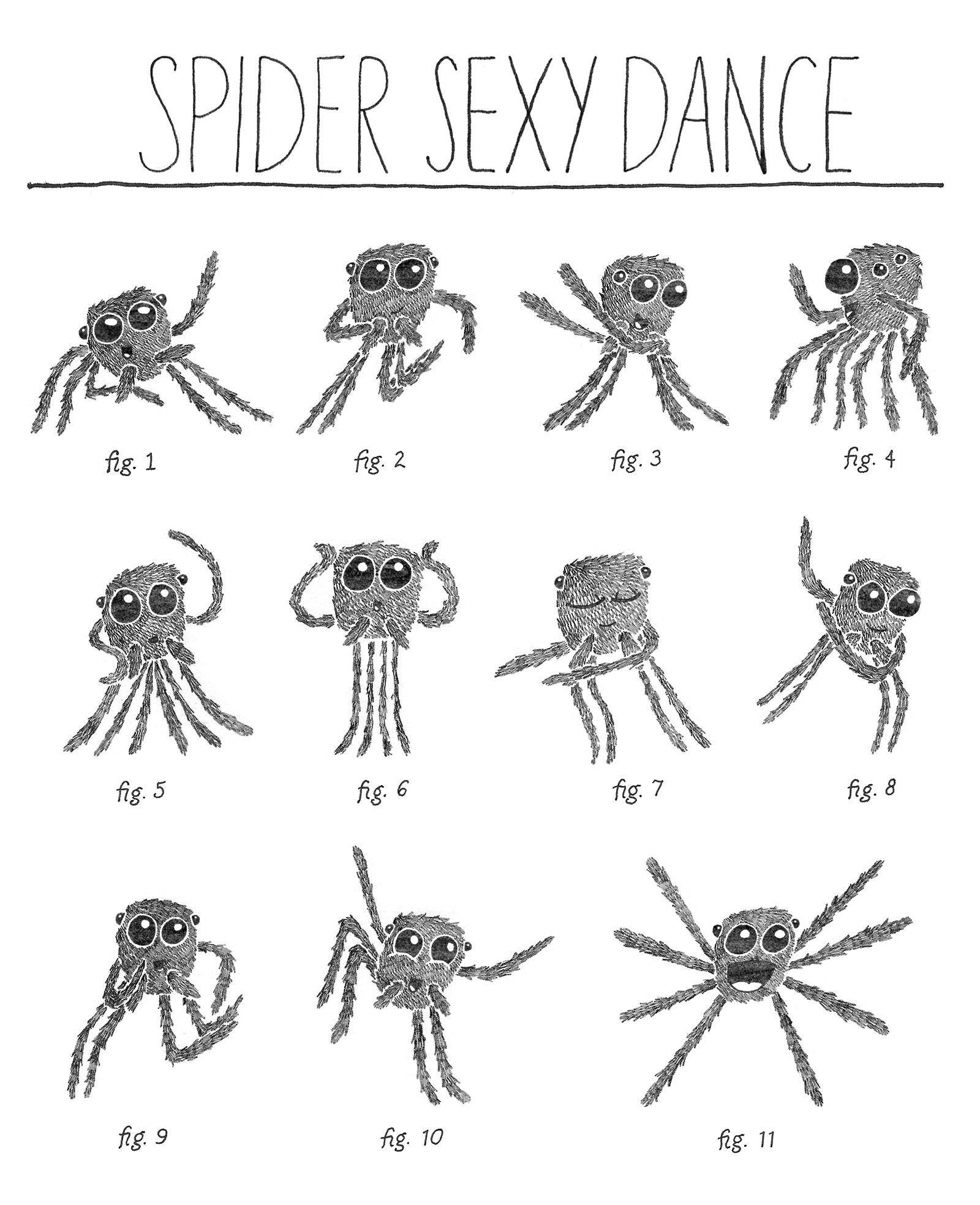 Drawn spider jumping spider Love Love Roar Jumping an