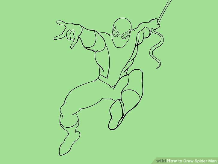 Drawn spider line drawing #15