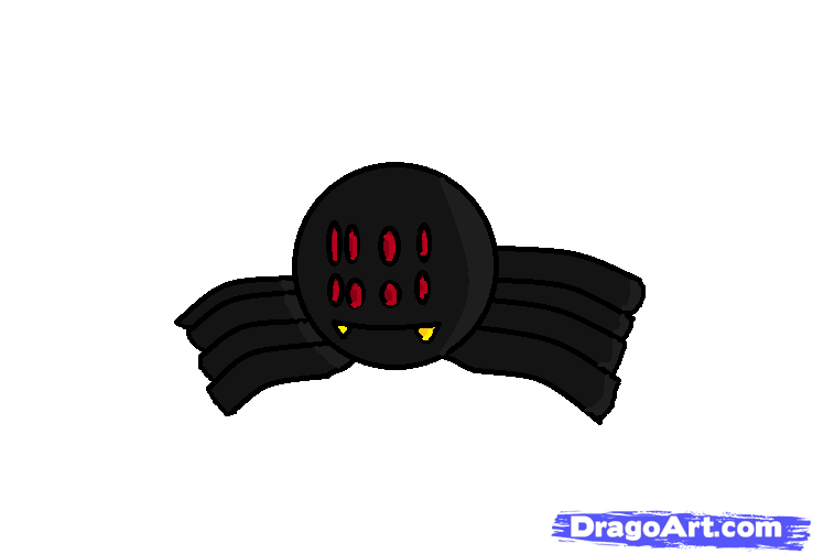 Drawn spider minecraft A cute spider Step Animals