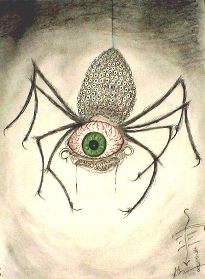 Drawn spider monster 22 DrawingSpider SciFi Scary images