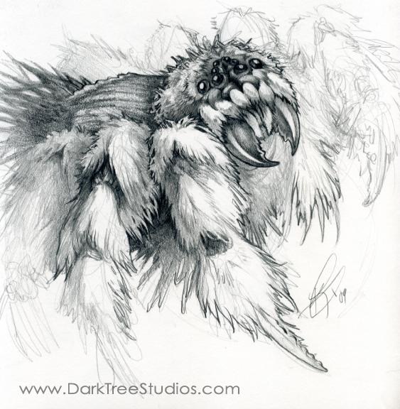 Drawn spider monster On Monster GrendelGrack Spider Spider