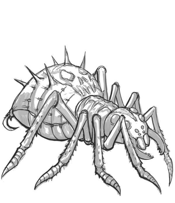 Drawn spider monster Gallery : D&D Gallery: Battle