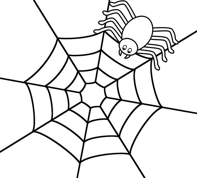 Drawn spider web net 55+ Shape Spider Spider Coloring