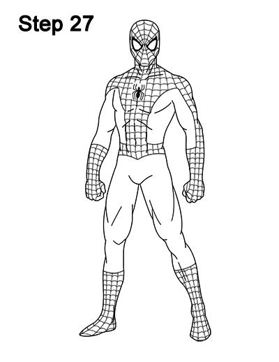 Drawn spider-man sketch Comics 27 Spider Body Man
