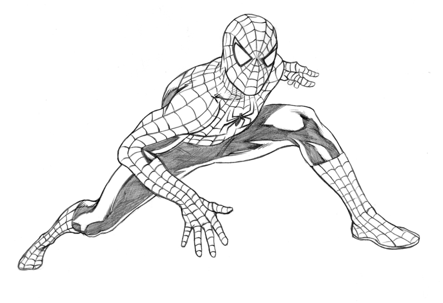 Drawn spider-man sketch Pictures drawing Spiderman Becuo Drawings