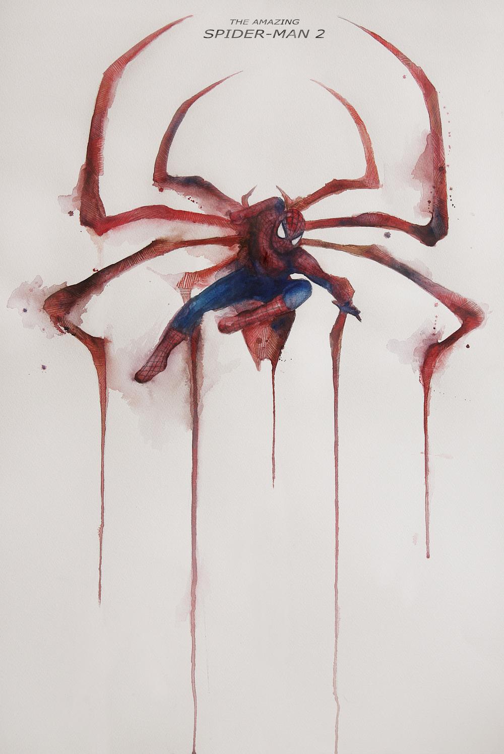 Drawn pencil spider Drawn added was A1 on