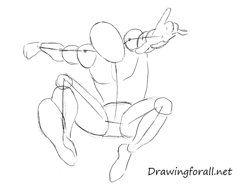 Drawn spider pencil Man DrawingForAll Spider Man to