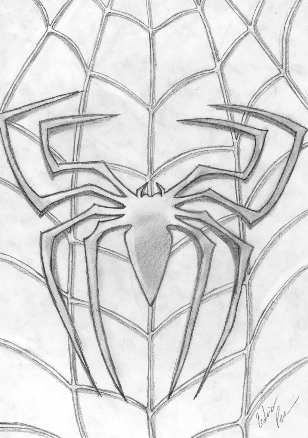 Drawn spider printable Scarlet Logo Coloring 14 Man