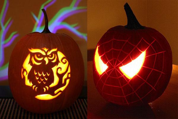 Drawn spider pumpkin carving Creative Best Pumpkin & Ideas