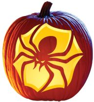 Drawn spider pumpkin carving #9