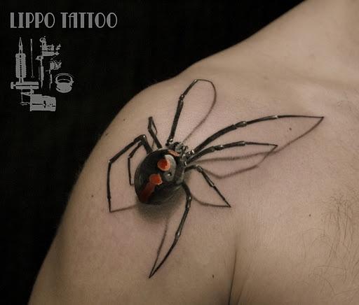 Drawn spider real Tattoo Mind BizarBin 3D spider