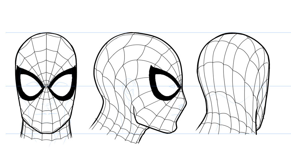 Drawn spider side view With Marvel Man Sliney Will