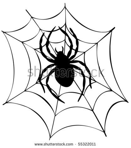 Drawn spider silhouette Tattoo spider man Outlines on