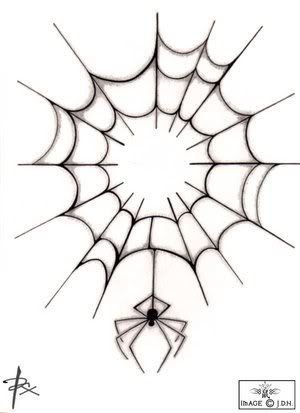 Drawn spider web graphic Drawing Tattoo on Best Web