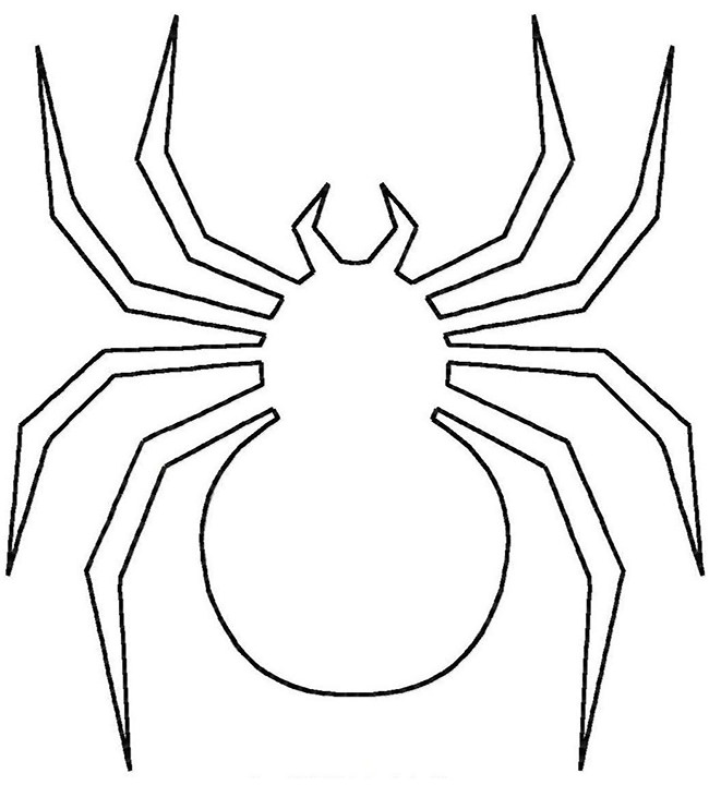 Drawn spider simple Pages Colouring Spider & Crafts