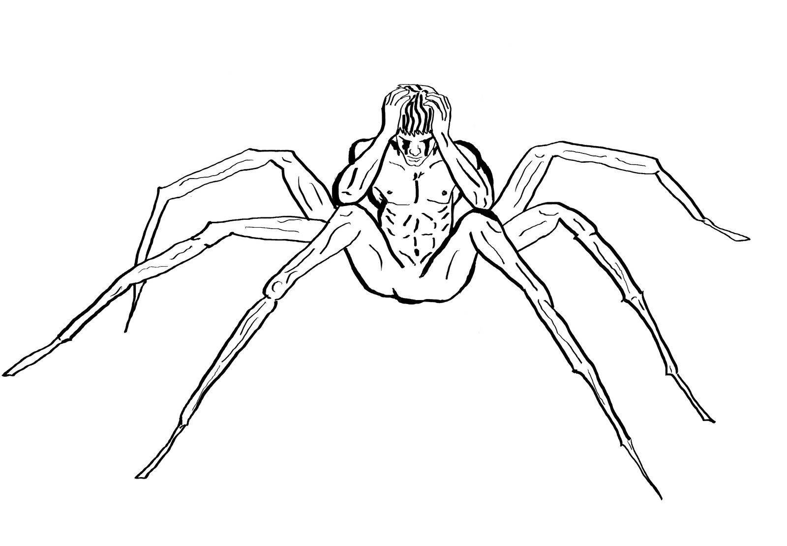 Drawn spider sketched Sketch Realistic Images Pencil Spider