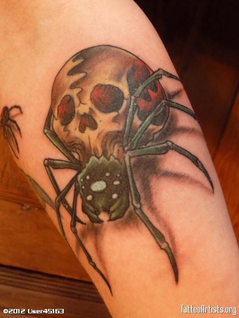 tattoo Spider skull