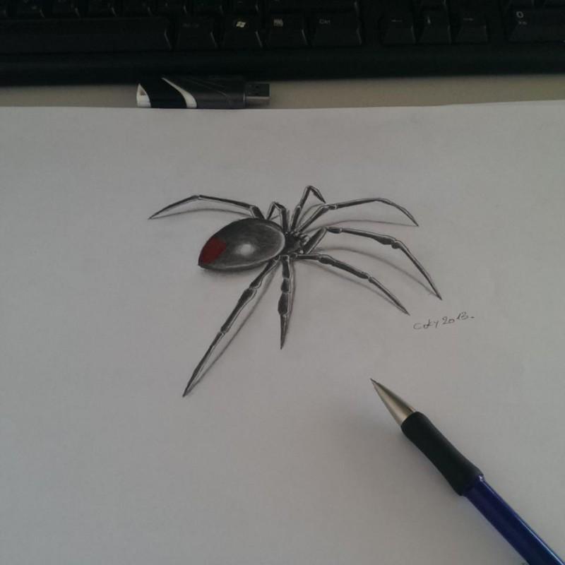 Drawn spider small black  Small biz black spider