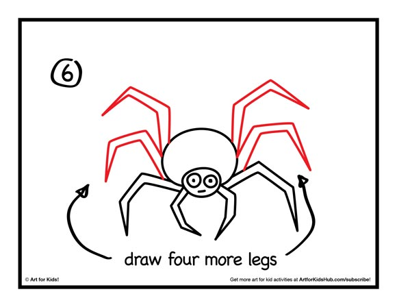 Drawn spider step by step A Kids 6 Spider For