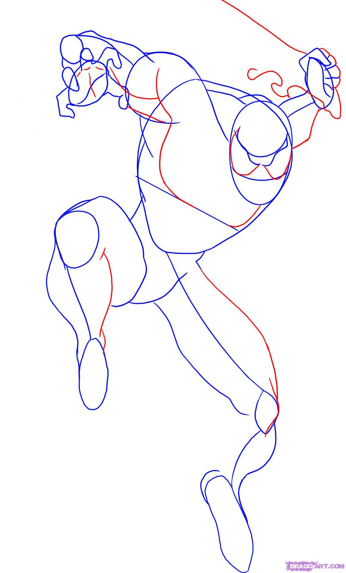 Drawn spider step by step Step Draw man 3 to
