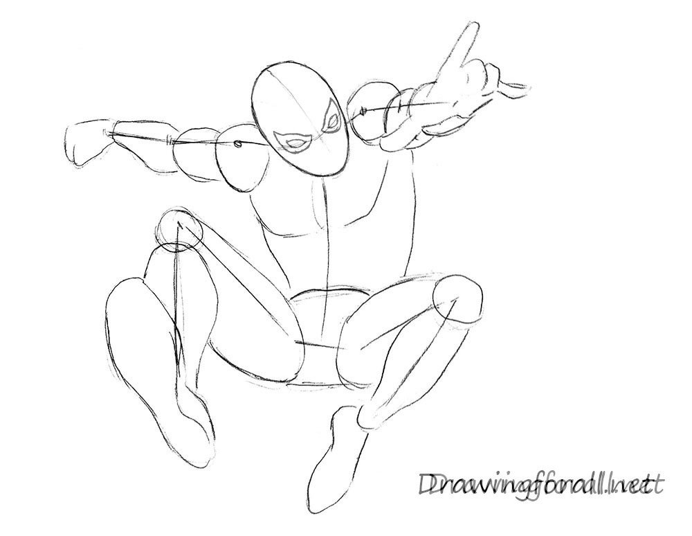 Drawn spider step by step The DrawingForAll man Amazing Man