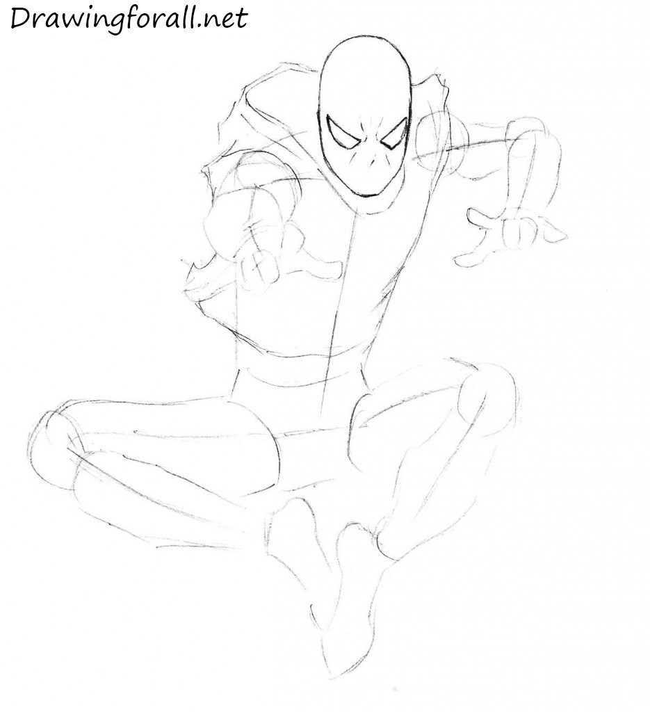Drawn spider step by step #10