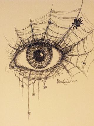 Drawn spider surrealism #abstract #eye afternoon #spider #surrealism
