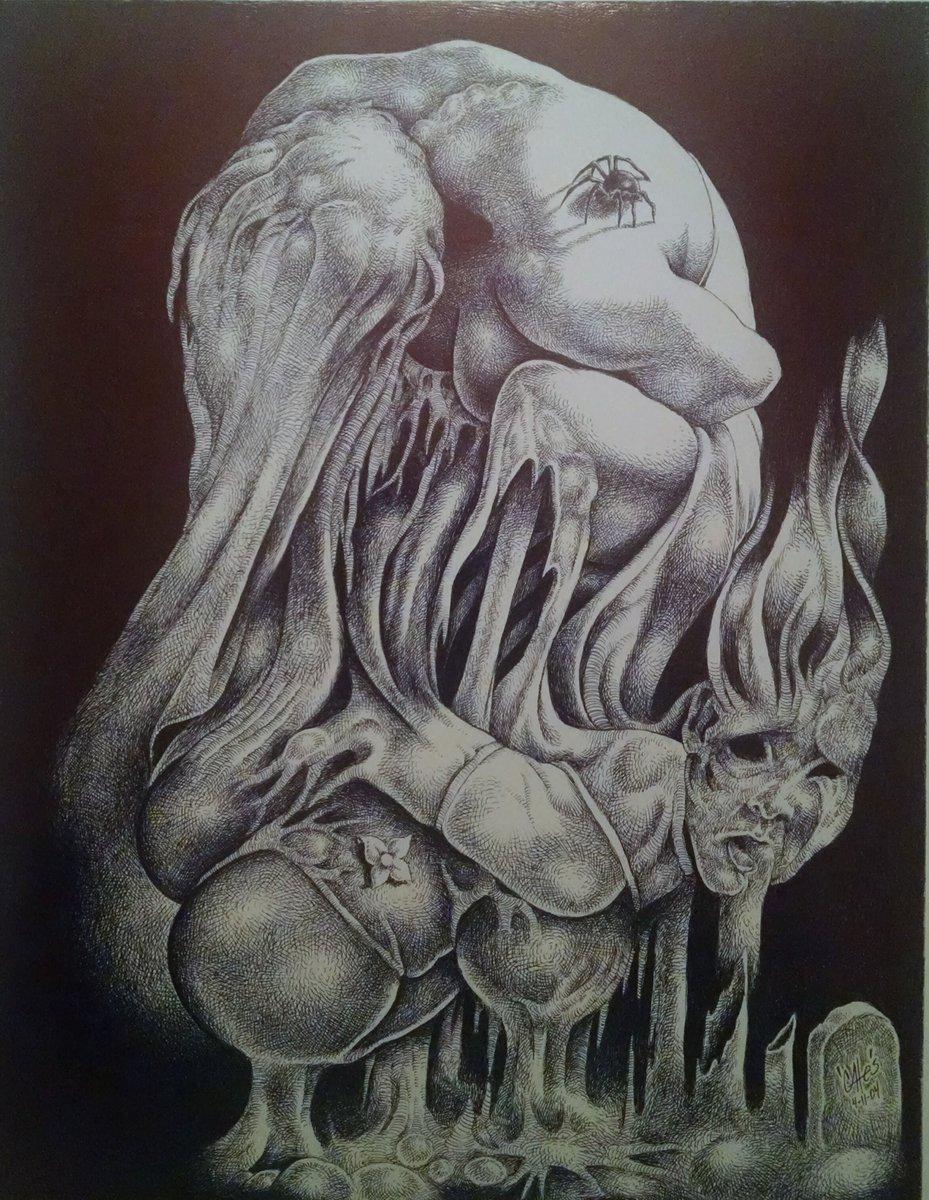 Drawn spider surrealism Surrealism  surrealism #ballpointart #drawing